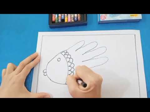 Hướng dẫn vẽ con cá từ bàn tay - GV Vũ Thị Nhung - Trường MN Vạn Hòa