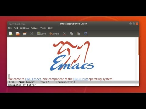 Install Emacs 26 1 Text Editor for Linux Ubuntu Unity 18 04