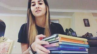 АСМР мои школьные дневники. Вспоминаем юные годы / ASMR school diaries