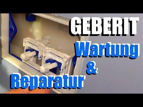Geberit Toiletten Spülkasten Reparatur und Wartung - Wie geht's?