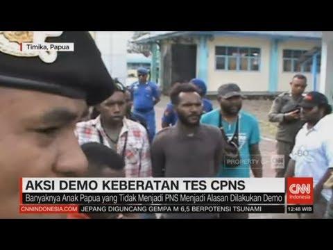 Tes CPNS di Timika Diwarnai Aksi Demo