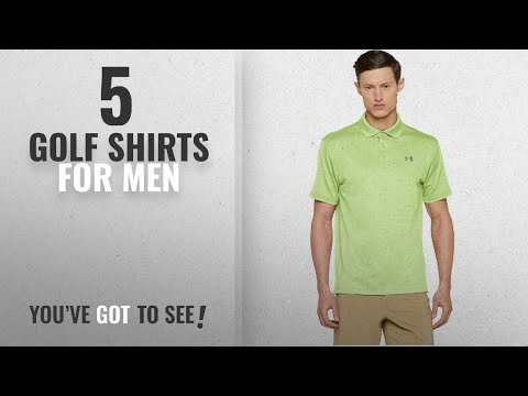 Top 10 Golf Shirts For Men [2018]: Under Armour Men's Performance Polo Short-Sleeve Shirt, Lumos