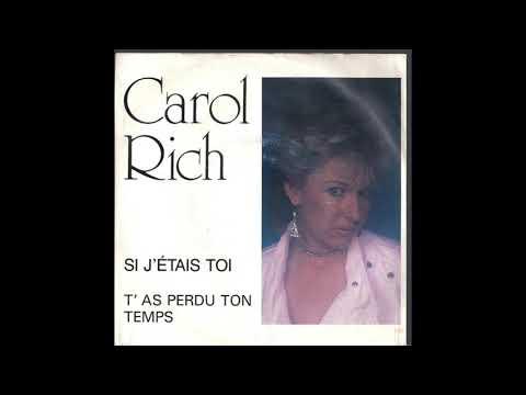 Carol Rich - T'as perdu ton temps (synth pop, Switzerland 1986)