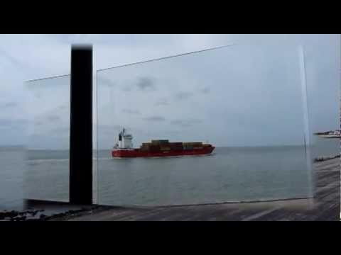 Netherlands boulevard,sea and freighter Vlissingen Zeeland Nederland zee en vrachtboot