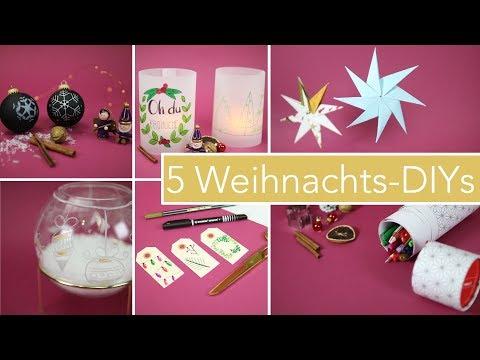 5 DIY Bastelideen zu Weihnachten   Dekoration & Geschenke