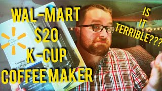 Unboxing and Reviewing Walmart's $20 Mainstay K-Cup Keurig Coffee Maker