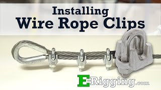 Installing Wire Rope Clips