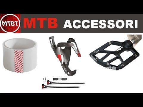 MTB accessori | Pedali Wellgo B181 Flat - Scotch 3M protezione frame - portaborracce Elite VIP  MTBT