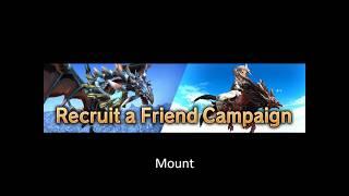 FFXIV Mount Recruit a friend