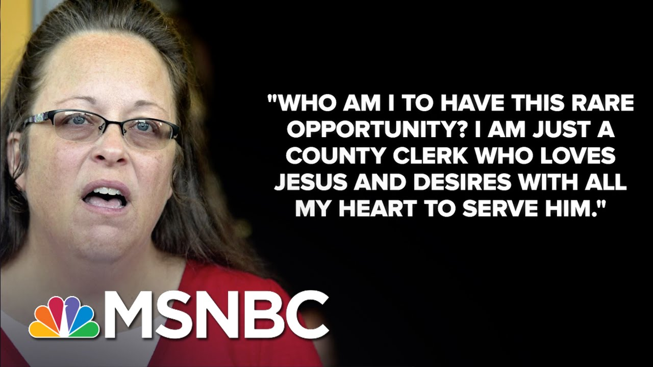 Kentucky Clerk Kim Davis Met With Pope Francis | MSNBC thumbnail