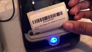 Dymo 450 Labelwriter Printer Unboxing FBA Barcode Printing Demo