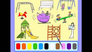Early Education Games -  Paint the Picture - The Park