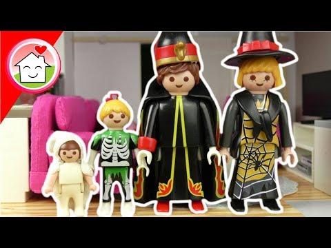 Playmobil Film deutsch - Familie Hauser in 4 Halloween Styles - Video für Kinder
