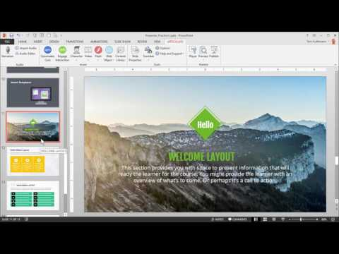 Articulate 360 Tutorial: How to Insert & Customize Templates in PowerPoint Using Presenter 360