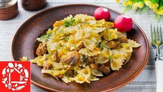Это у нас любят все! Самый вкусный ужин с макаронами и капустой 2 в 1