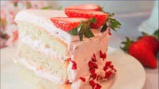 Best Moist White Cake  How to make a Homemade White Cake recipe
