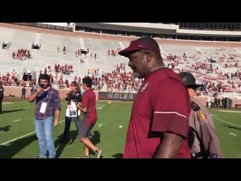 Florida State interim coach Odell Haggins gets emotional during incredible sendoff | ESPN