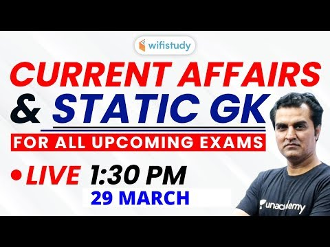 Current Affairs & Static GK by Anadi Sir for All Upcoming Exams (Part-11)