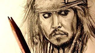 ASMR | Pencil Drawing 116 | Captain Jack Sparrow (Request)