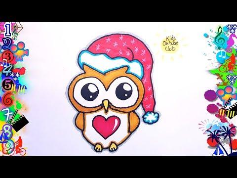 Como Dibujar Un Buho Dibujos Para Niños смотреть онлайн на Hahlife