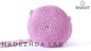 Сумочка-спиралька. Вязание крючком из трикотажной пряжи