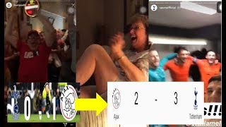 Tottenham vs Ajax comeback || Celebrity and fans Reaction Compilation | UCL semifinal