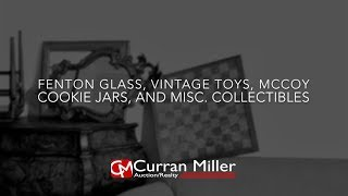 Fenton Glass, Vintage Toys, McCoy Cookie Jars And Misc Collectibles
