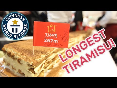 World's Longest Tiramisu – Guinness World Records