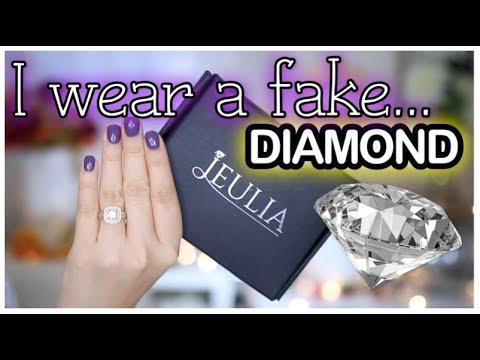 WHY I WEAR A FAKE DIAMOND WEDDING RING! | JEULIA JEWELRY