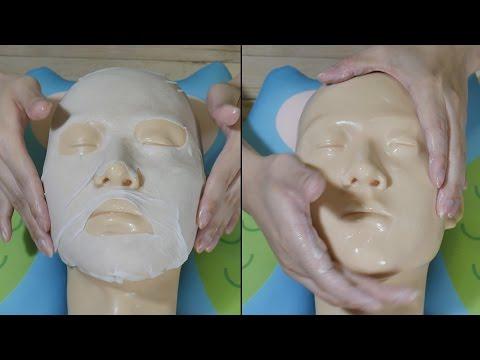 Die Masken für die Person von der Abschuppung und den schwarzen Punkten
