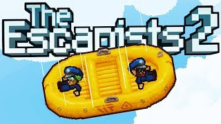 ESCAPING a PRISON PLANE Using a LIfe Raft! - The Escapists 2 Gameplay