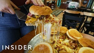 We Tried A Pizza Topped With 8 Bacon Cheeseburgers