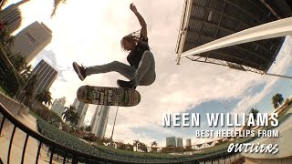 Neen Williams' Best Heelflips From Outliers   TransWorld SKATEboarding
