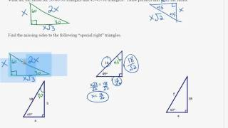 Special Right Triangles Homework 2