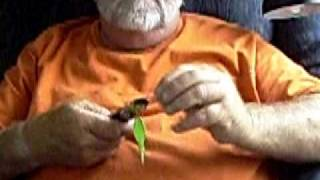 Captain Butch show you how to tie a dead cigar minnow rig