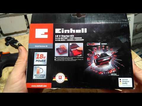 Einhell 18V 3,0Ah Starter-Kit Power-X-Change unboxing