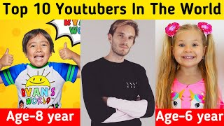 Top 10 Youtubers In The World 2020 || Most Subscribed Channel On Youtube