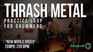 """Thrash Metal - Drumless Track for Drummers - """"New World Order"""""""