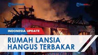 Rumah Lansia 90 Tahun di Semarang Hangus Terbakar, Tinggal Sebatangkara dan Harus Ditolong Warga