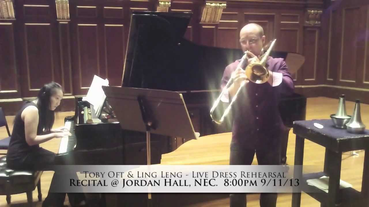 Toby Oft Trombone Recital Promo: Dress Rehearsal Clips, 2013
