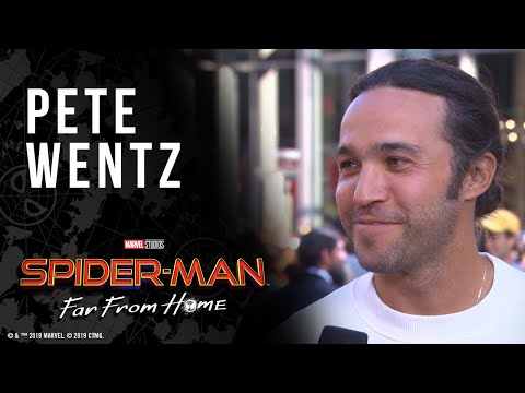 Pete Wentz wants to know what happens in Spider-Man: Far From Home LIVE from the red carpet
