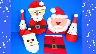 Easy Paper Santa Craft Ideas | Christmas Crafts For Kids