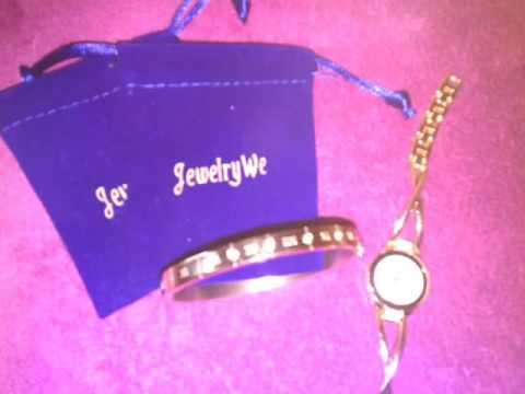 JewelryWe Juego de Pulsera con Reloj Oro Rosa,