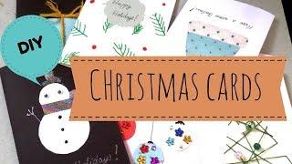 DIY Easy Handmade Christmas Cards   Holiday Greeting Card Ideas for Kids 2017    by Fluffy Hedgehog