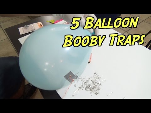 5 Balloon Booby Traps You Must Try- HOW TO PRANK | Nextraker
