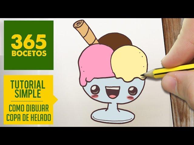 Video Como Dibujar Un Copa De Helado Kawaii Paso A Paso Dibujos