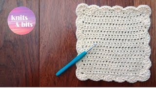 How To Crochet A Dishcloth / Washcloth - Easy Step By Step For Beginners (sunny Waves)