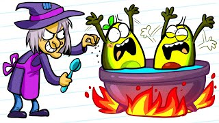 Vegetables Got Caught by Hungry Witch