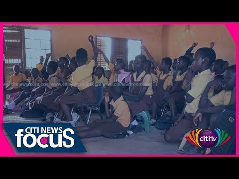 Pupils in Omanjor take chairs to school as others study on the floor