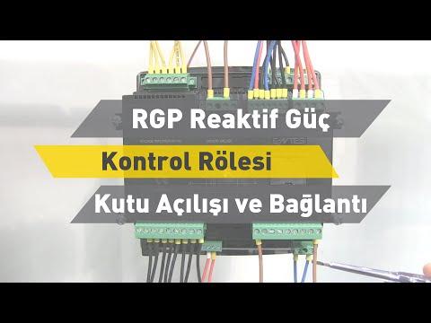 RGP Reaktif Güç Kontrol Rölesi - Kutu Açılışı ve Bağlantı